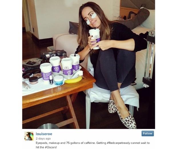 Louise Rose instagrams herself wearing eye masks