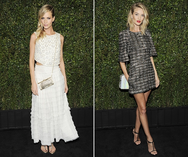 Rosie Huntington Whiteley and Poppy Delevingne fly the flag for british style