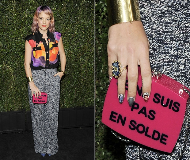 Lily Allen's nail art got everyone talking
