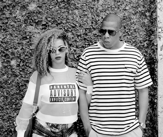 beyonce wearing a parental advisory top