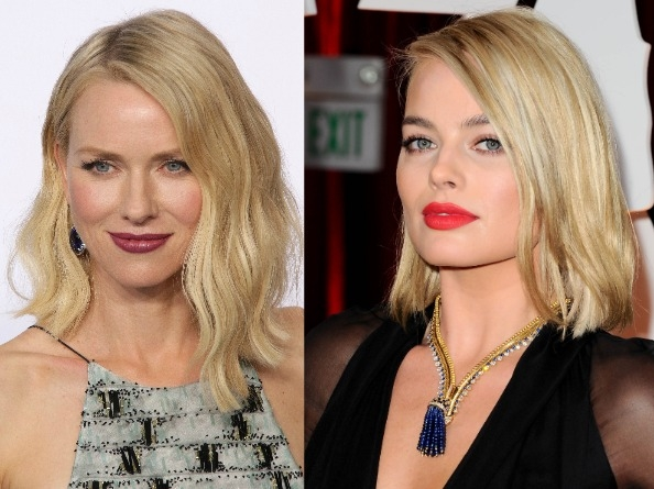 Naomi Watts and Margot Robbie choose bold bright lipstick at the Oscars 2015