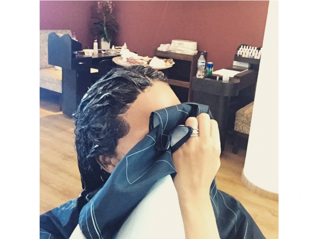 chrissy teigen dying her hair brown on instagram