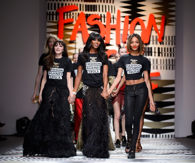 Naomi takes to the catwalk for her Fashion For Relief finale