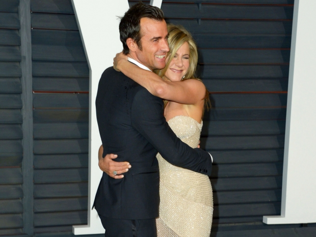 Jennifer Aniston and Justin Theroux at the oscars 2015