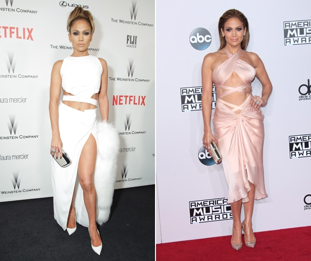J-Lo's toned tum alwyas looks amazing on the red carpet