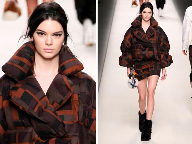 kendall jenner walking for fendi aw15 milan fashion week