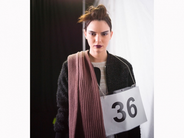 kendall jenner with gothic make up at the marc jacobs aw15 show