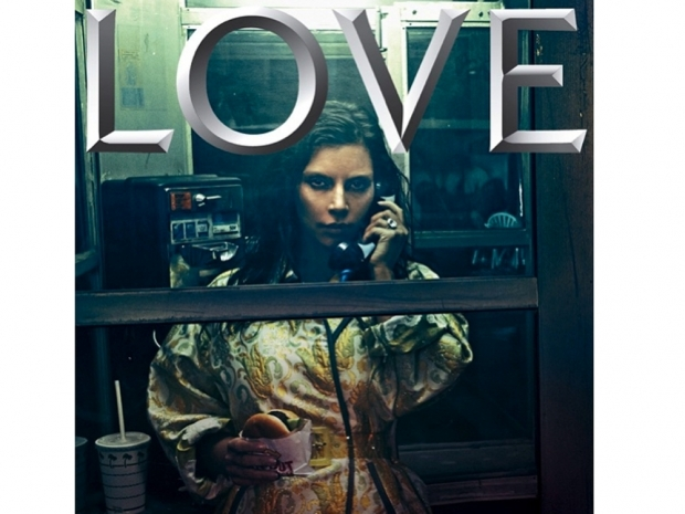 kim kardashian with bleached eyebrows for love magazine