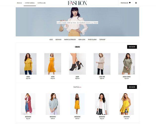 LOOK Fashion homepage