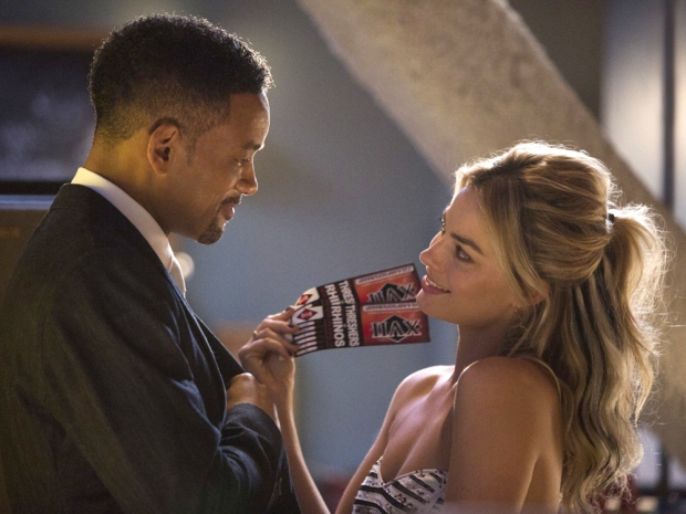 margot robbie and will smith in focus