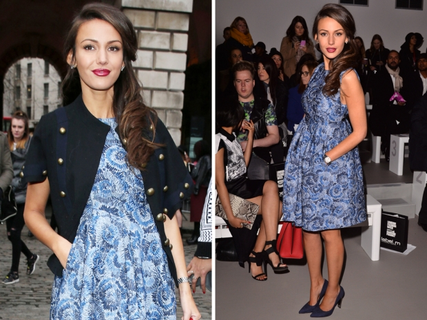 michelle keegan at jean pierre braganza show at london fashion week