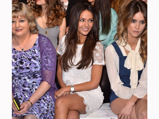michelle keegan at london fashion week on the frow