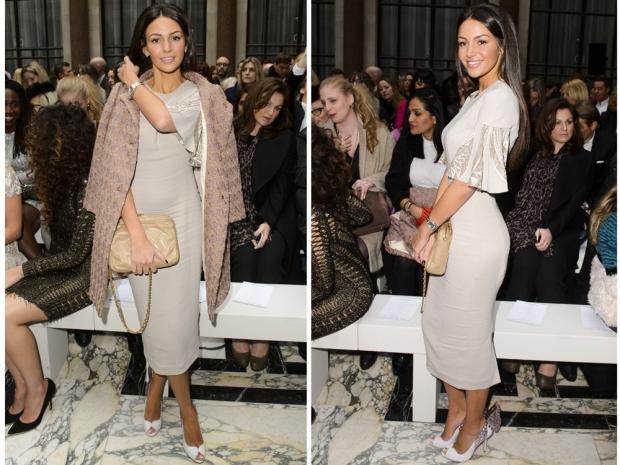 michelle keegan at julien macdonald show london fashion week