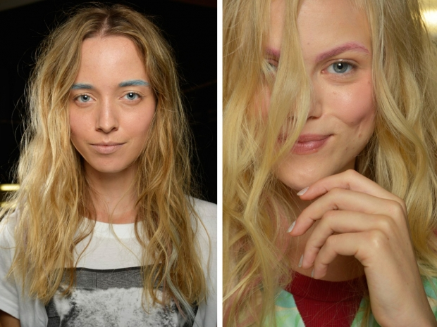 Badgley Mischka SS15 runway pastel tinted brows