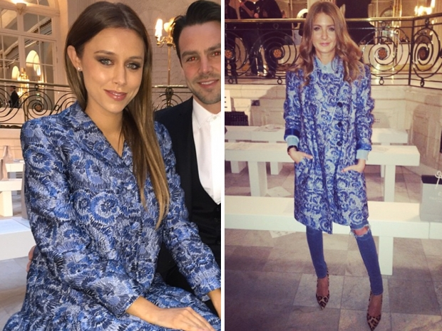 millie mackintosh and una healy at london fashion week