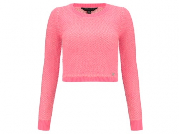 michelle keegan lipsy pink cropped top