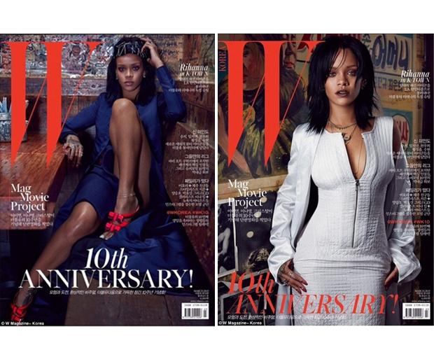 Rihanna for W Korea
