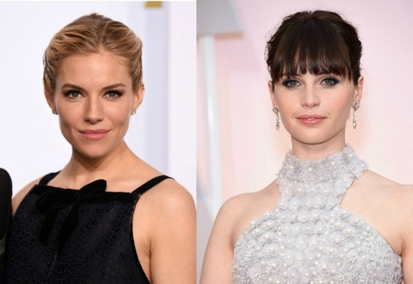 Sienna Miller and Felicity Jones choose a smokey eye for the Oscars 2015