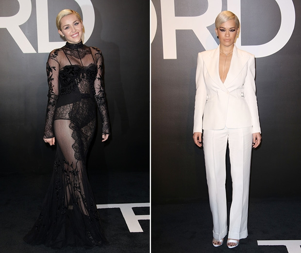 Rita ora and Miley Cyrus were the same beauty look