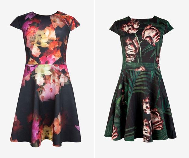 Ted Baker's floral skater dresses.