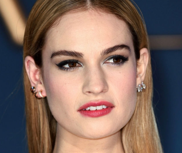 We love Lily James' smoky eyes - swoon!