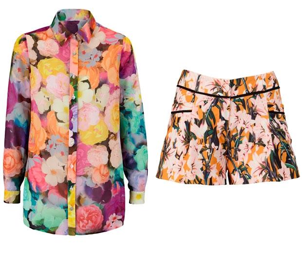 Floral shirt, £44 and Shorts, £29