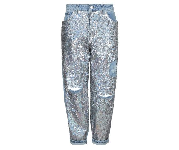 Topshop Sequin Boyfriend Jeans £56