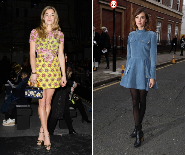DJ Chelsea Leyland and Alexa Chung cant get enough of the 60's trend