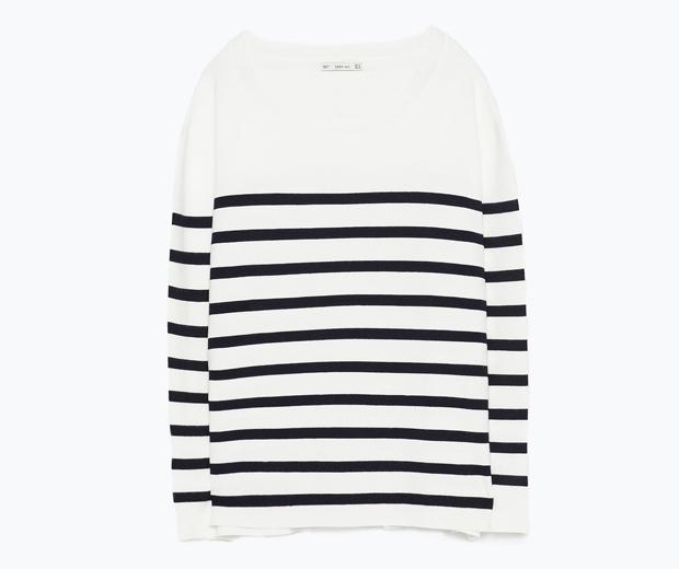 Zara Navy Striped Sweater £35.99