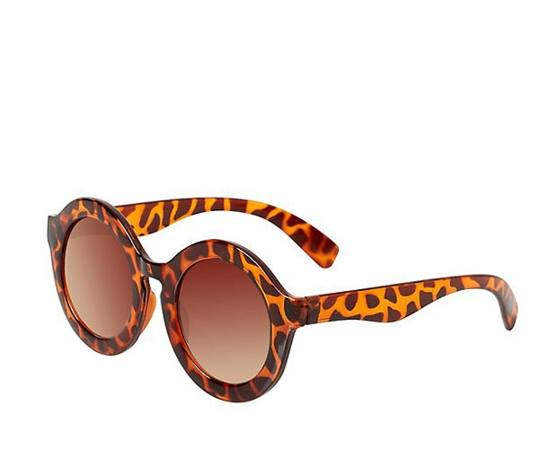 New Look Animal Print Chunky Round Sunglasses £5.99