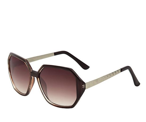 New Look Oversized Heptagon Sunglasses
