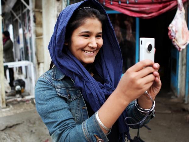 Sahar and her friends have been filming life in Kabul despite huge risks