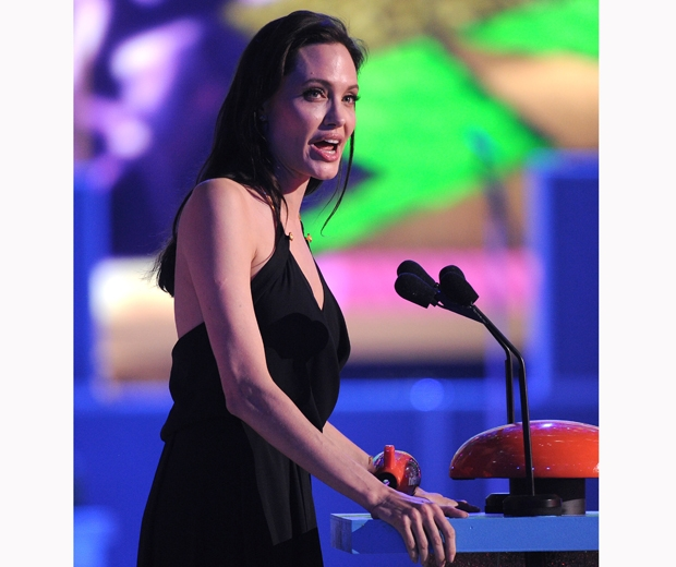 angelina jolie at the kids choice awards
