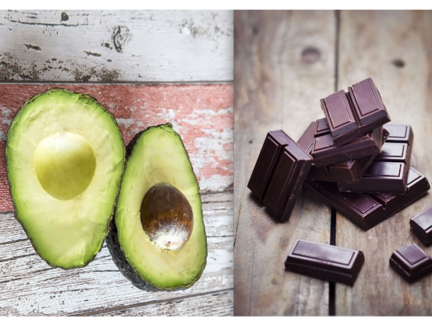 Avocado and dark chocolate