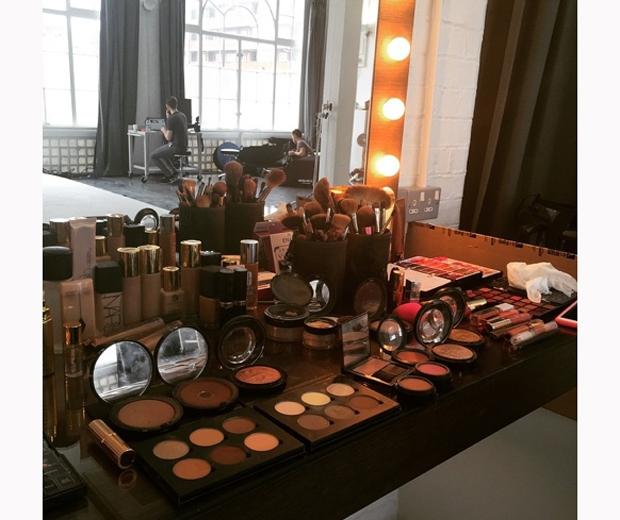 made in chelsea binky felstead make-up on beauty shoot