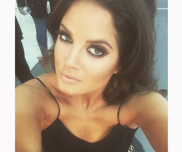 made in chelsea's binky felstead with smokey eyes and fake eyelashes