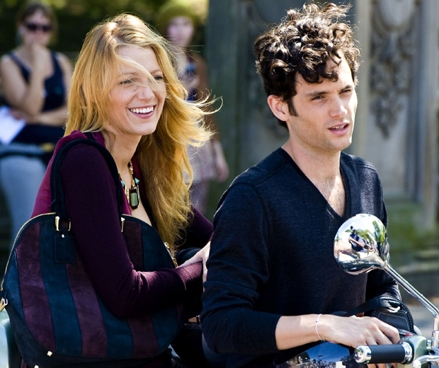 Blake Lively and her Gossip Girl co-star Penn Badgley