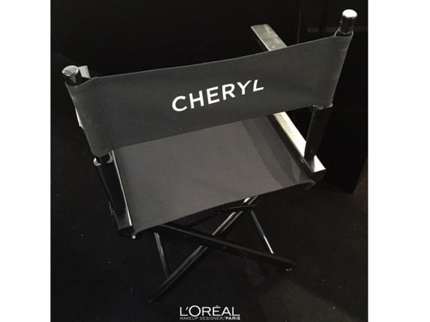 Cheryl Fernandez-Versini's make-up chair at l'oreal paris event