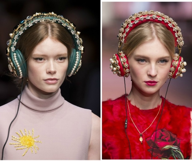 D&G models wore Beats By Dre Embellish Headphone Hair Bands