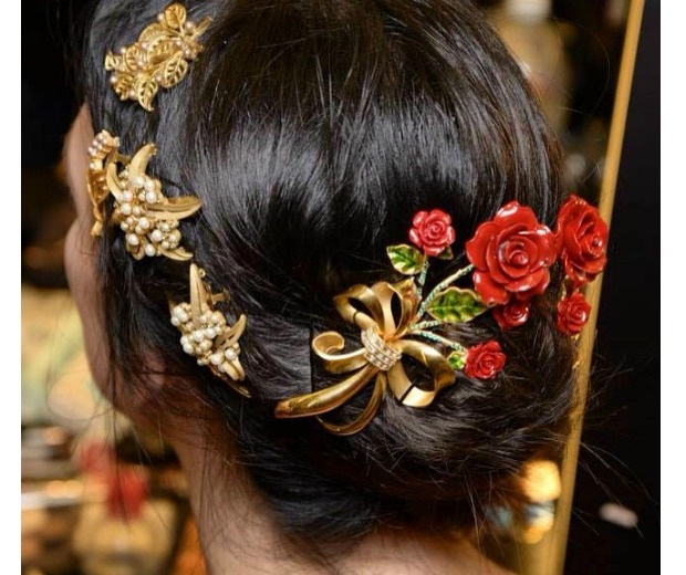 Hair at D&G was gorgeously effortless