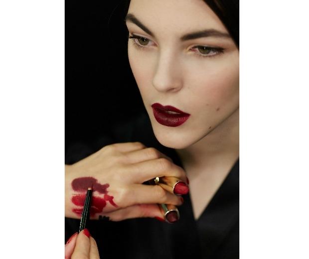 D&G Matte Lipsticks being applied backstage