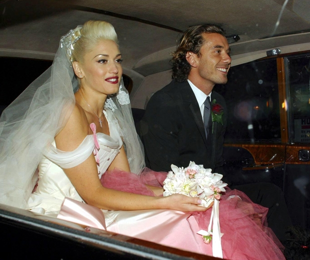 Gwen Stefani at her wedding
