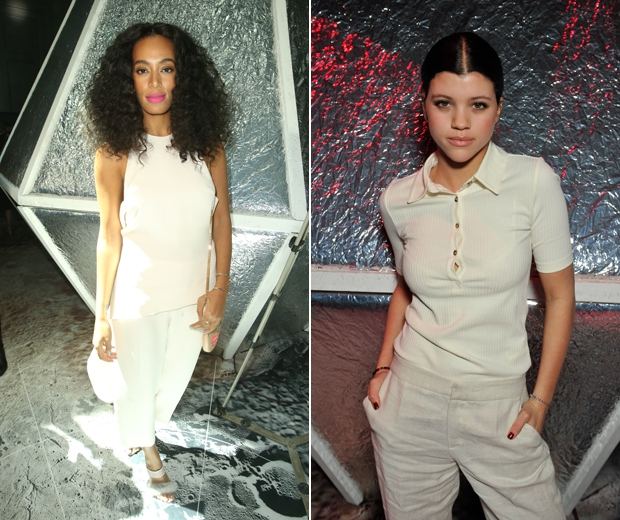 Solange Knowles and Sofia Richie at the H&M show