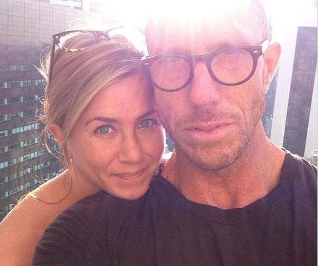 Jennifer Aniston with her hairdresser BFF Chris McMillan