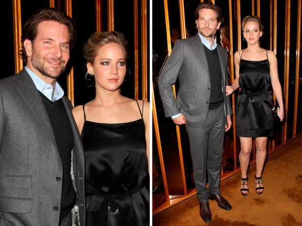 jennifer lawrence in a black dress at serena after party