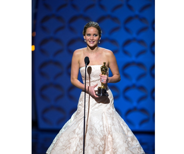 Jennifer Lawrence wearing Dior