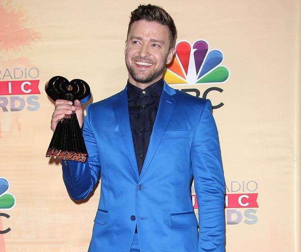 justin timberlake at the iHeartRadio Music Awards