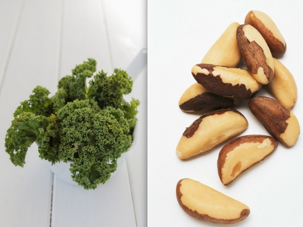Brazil nuts and kale