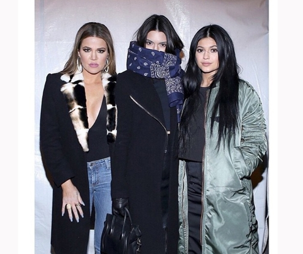 Khloe Kardashian with half-sisters Kendall and Kylie Jenner