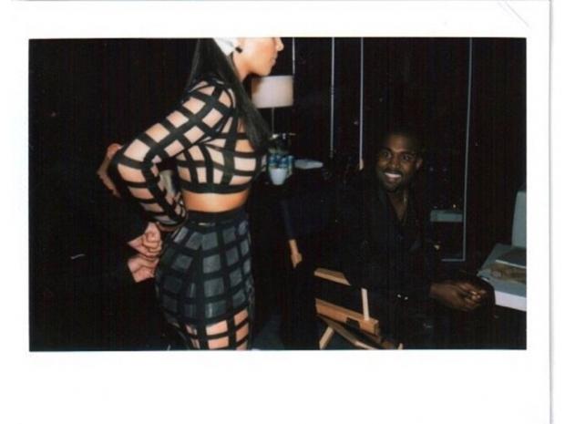 kim kardashian in caged balmain dress